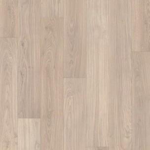 Laminado quick step eligna roble barnizado gris claro for Suelos laminados claros